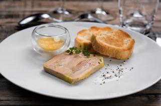 Foie gras de canard et chutent